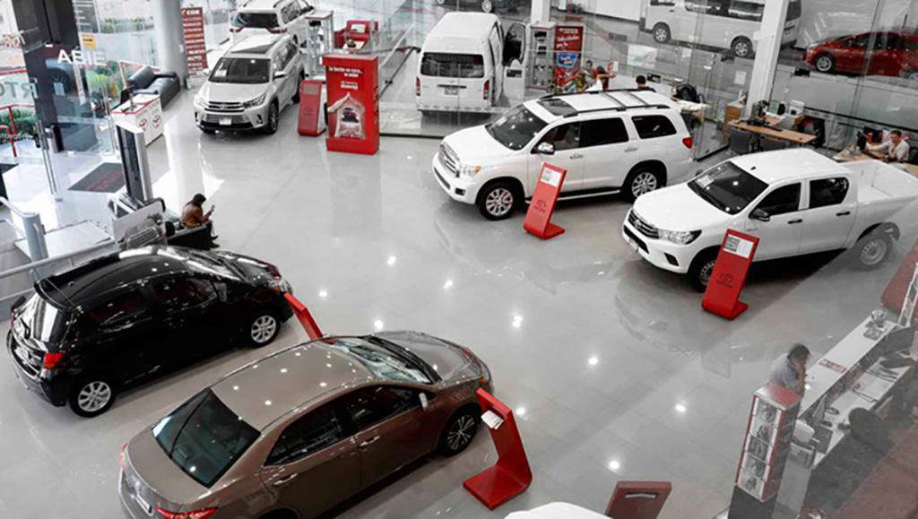 Venta de autos nuevos, con números positivos