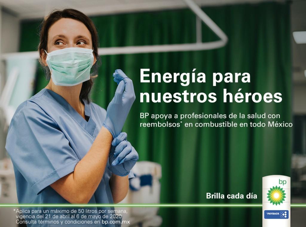 BP lanza campaña para apoyar al sector salud que lucha contra el coronavirus.