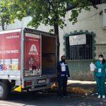 Industria de pinturas para autos dona gel antibacterial