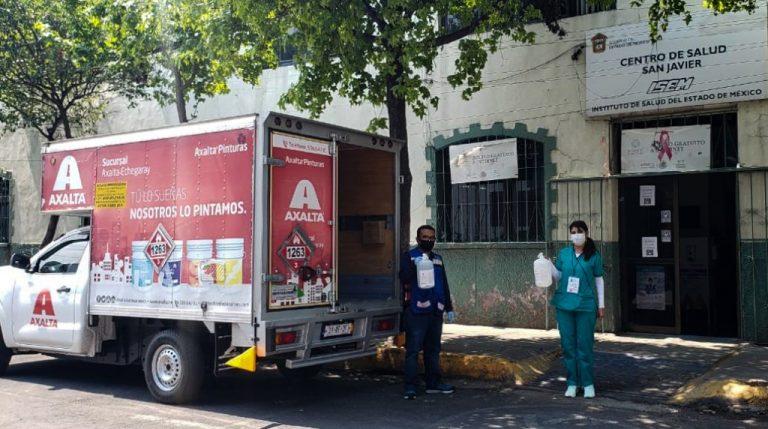Empresas de pinturas (ANAFAPYT) donan gel antibacterial