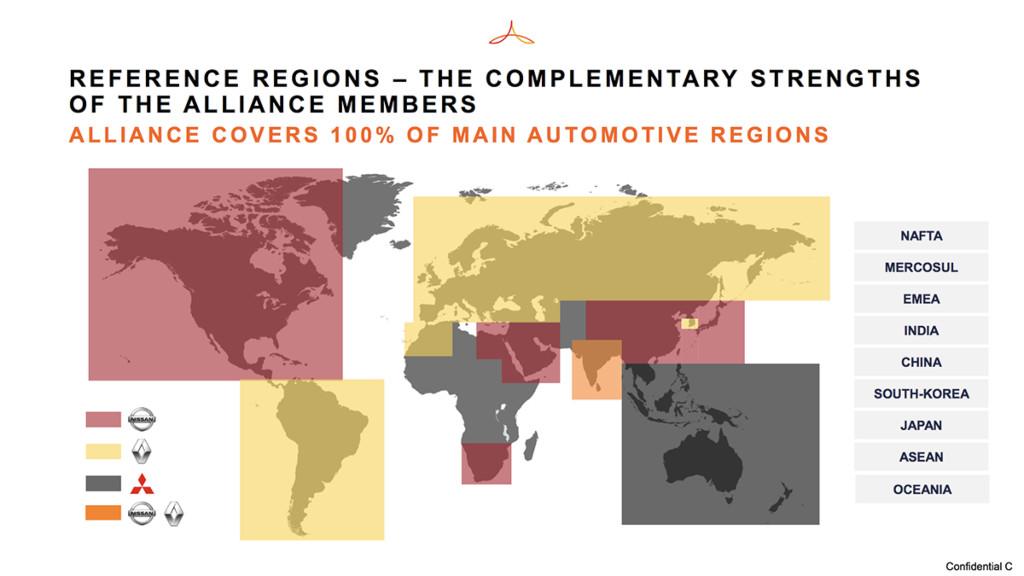 Renault, Nissan y Mistubishi se dividen el mundo en alianza estratégica y cooperativa.