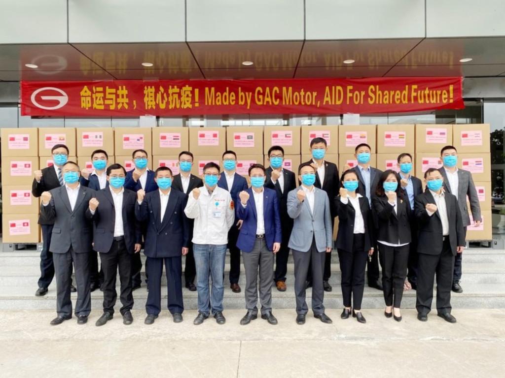 GAC Motor ha donado mascarillas al personal de salud.