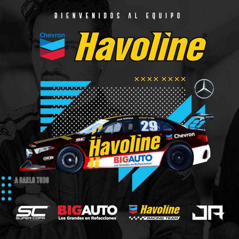 Chevron Havoline Racing Team recibe al piloto José Arellano en la Súper Copa Mercedes-Benz